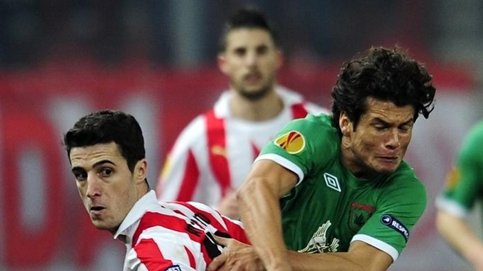 olympiacos earned a second 1-0 win in their tie against rubin thanks to rafik djebbour s goal